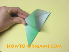 how to origami candy box instruction 6