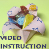 how to origami box - candy box video instruction