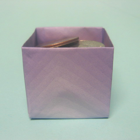 how to origami box - square box