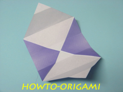 how to origami square box instruction 12