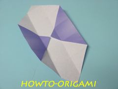 how to origami square box instruction 15