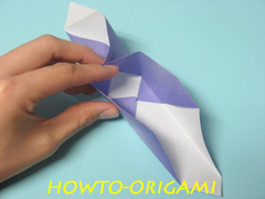 how to origami square box instruction 17