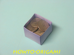 how to origami square box instruction 26