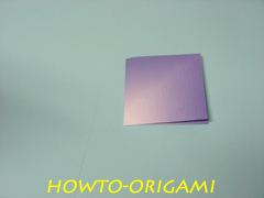 how to origami square box instruction 4
