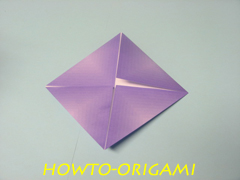 how to origami square box instruction 8