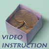 how to origami box - square box video instruction