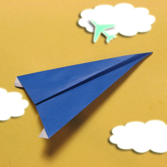 Simple airplane origami - How to make a simple airplane origami instruction