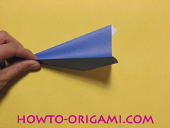 airplane origami (Simple airplane origami) - How to make a simple airplane origami instruction11