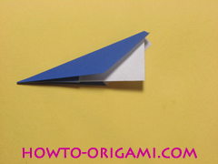 airplane origami (Simple airplane origami) - How to make a simple airplane origami instruction12