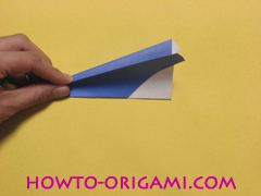 airplane origami (Simple airplane origami) - How to make a simple airplane origami instruction13