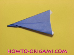airplane origami (Simple airplane origami) - How to make a simple airplane origami instruction14