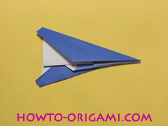 airplane origami (Simple airplane origami) - How to make a simple airplane origami instruction16