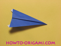airplane origami (Simple airplane origami) - How to make a simple airplane origami instruction19
