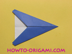 airplane origami (Simple airplane origami) - How to make a simple airplane origami instruction8