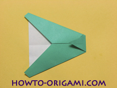 Airplane with round ended nose origami instruction 10 - How to make airplane origami instructions for kids