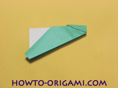 Airplane with round ended nose origami instruction 12 - How to make airplane origami instructions for kids