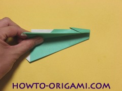 Airplane with round ended nose origami instruction 13 - How to make airplane origami instructions for kids