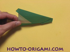 Airplane with round ended nose origami instruction 15 - How to make airplane origami instructions for kids