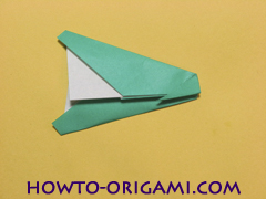 Airplane with round ended nose origami instruction 16 - How to make airplane origami instructions for kids