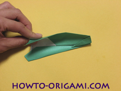 Airplane with round ended nose origami instruction 17 - How to make airplane origami instructions for kids