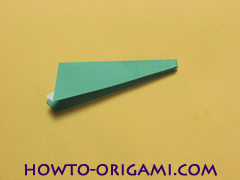 Airplane with round ended nose origami instruction 18 - How to make airplane origami instructions for kids