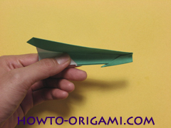 Airplane with round ended nose origami instruction 19 - How to make airplane origami instructions for kids