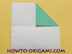 Airplane with round ended nose origami instruction 4 - How to make airplane origami instructions for kids