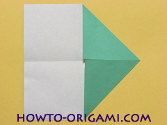 Airplane with round ended nose origami instruction 5 - How to make airplane origami instructions for kids