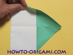 Airplane with round ended nose origami instruction 6 - How to make airplane origami instructions for kids