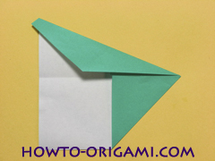 Airplane with round ended nose origami instruction 7 - How to make airplane origami instructions for kids