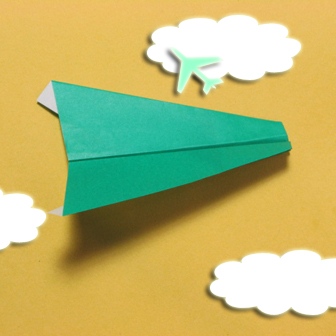 Airplane with round ended nose origami - How to make airplane with round ended nose origami instructions