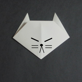 how to origami cat- easy origami for kids
