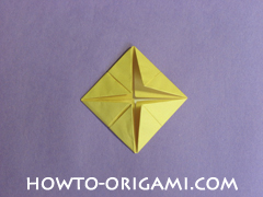 chair origami, how to origami a chair instruction15 - easy origami for child