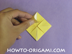 chair origami, how to origami a chair instruction18 - easy origami for child
