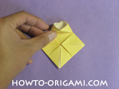 chair origami, how to origami a chair instruction19 - easy origami for child
