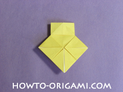 chair origami, how to origami a chair instruction20 - easy origami for child