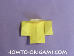 chair origami, how to origami a chair instruction22 - easy origami for child