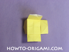 chair origami, how to origami a chair instruction23 - easy origami for child