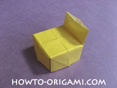 chair origami, how to origami a chair instruction25 - easy origami for child