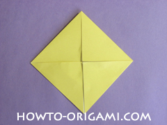 chair origami, how to origami a chair instruction7 - easy origami for child