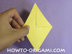 chair origami, how to origami a chair instruction8 - easy origami for child