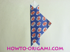 Chopstick wrapper origami - How to make chopsticks wrapper origami instruction no.10