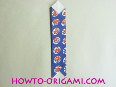 Chopstick wrapper origami - How to make chopsticks wrapper origami instruction no.11