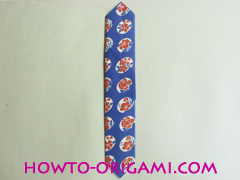Chopstick wrapper origami - How to make chopsticks wrapper origami instruction no.13