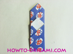 Chopstick wrapper origami - How to make chopsticks wrapper origami instruction no.14