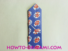 Chopstick wrapper origami - How to make chopsticks wrapper origami instruction no.16