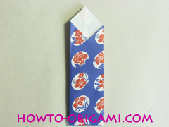 Chopstick wrapper origami - How to make chopsticks wrapper origami instruction no.17