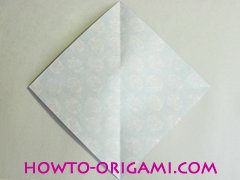 Chopstick wrapper origami - How to make chopsticks wrapper origami instruction no.4