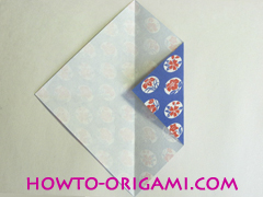 Chopstick wrapper origami - How to make chopsticks wrapper origami instruction no.5