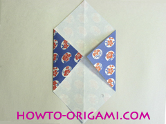Chopstick wrapper origami - How to make chopsticks wrapper origami instruction no.6